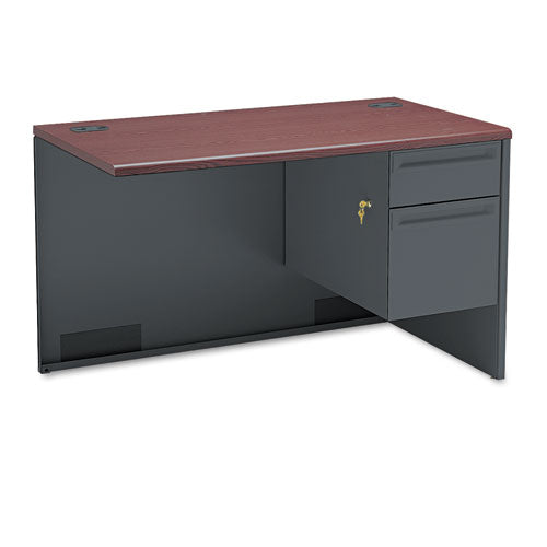 "HON 38000 Series Right Return | 1 Box / 1 File Drawer | 48""W x 24""D x 29-1/2""H 