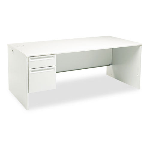 HON 38000 Series Left Pedestal Desk HON38294LQQ, Gray (UPC:089192668441)