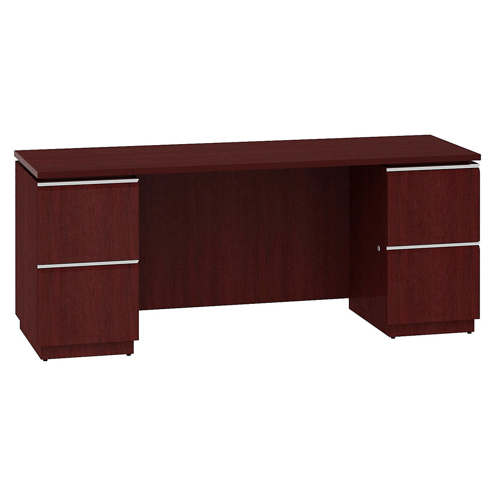 Bush Business Furniture Milano2 72W Double Pedestal Kneespace Credenza in Harvest Cherry ; UPC: 042976504465 ; Image 1