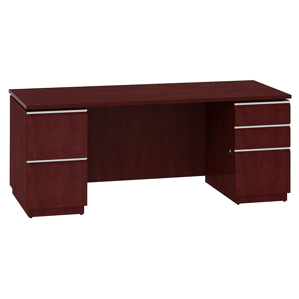 Bush Business Furniture Milano2 72W Double Pedestal Desk in Harvest Cherry ; UPC: 042976504663 ; Image 1