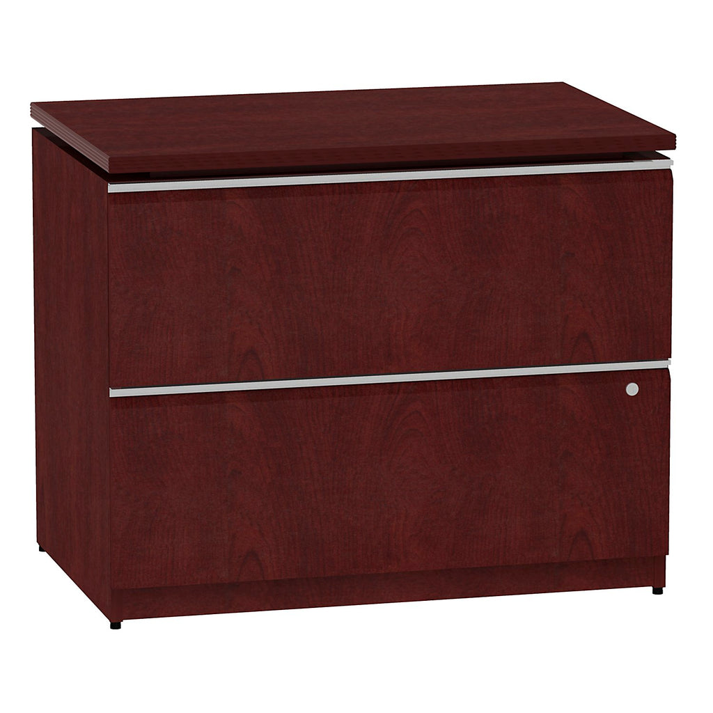Bush Business Furniture Milano2 36W Lateral File in Harvest Cherry ; UPC: 042976011703 ; Image 1