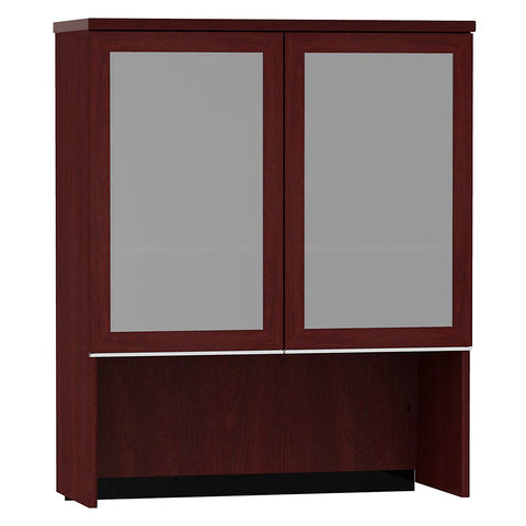 Bush Milano2 36W Bookcase Hutch with Glass Doors in Harvest Cherry ; Image 1