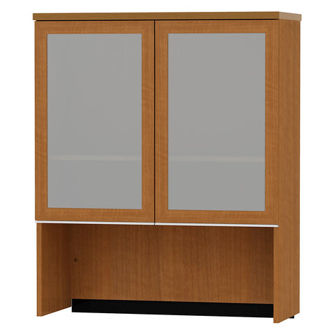Bush Milano2 36W Bookcase Hutch with Glass Doors BSH50HS36GA,  (UPC:042976001629) ; Image 1