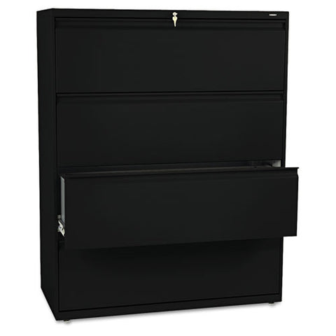 HON 800 Series Full-Pull Locking Lateral File HON894LP, Black (UPC:089192144099)