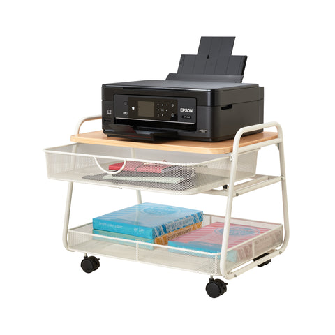 Safco Products Onyx Under-Desk Machine Stand 5208WH(Image 4)