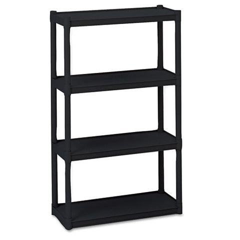 Iceberg Rough 'N Ready 4-Shelf Open Storage System ICE20841, Black (UPC:674785208410)