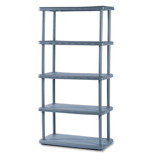 Iceberg Rough 'N Ready 5-Shelf Open Storage System ICE20852, Gray (UPC:674785208526)