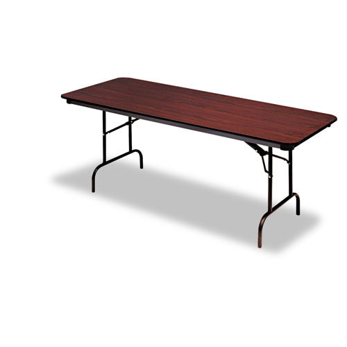 Iceberg Premium Wood Laminate Folding Table ICE55214, Mahogany (UPC:674785552148)