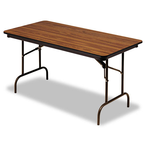 Iceberg Premium Wood Laminate Folding Table ICE55215, Oak (UPC:674785552155)