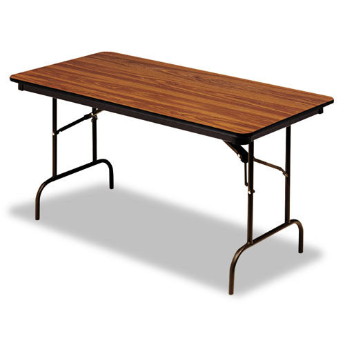 Iceberg Premium Wood Laminate Folding Table ICE55235, Brown (UPC:674785552353)