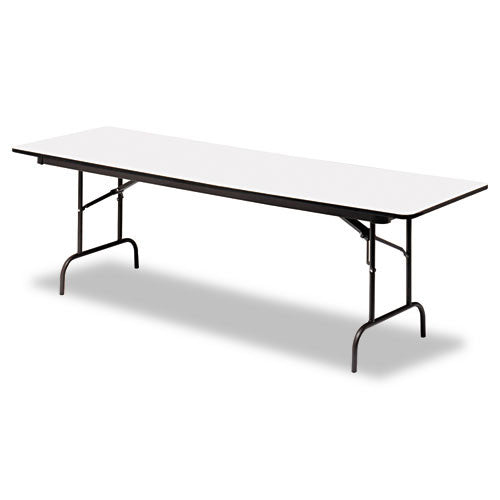 Iceberg Premium Wood Laminate Folding Table ICE55237, Black (UPC:674785552377)