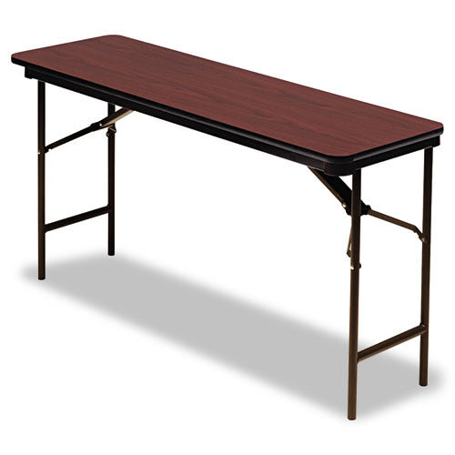 Iceberg Premium Wood Laminate Folding Table ICE55274, Mahogany (UPC:674785552742)
