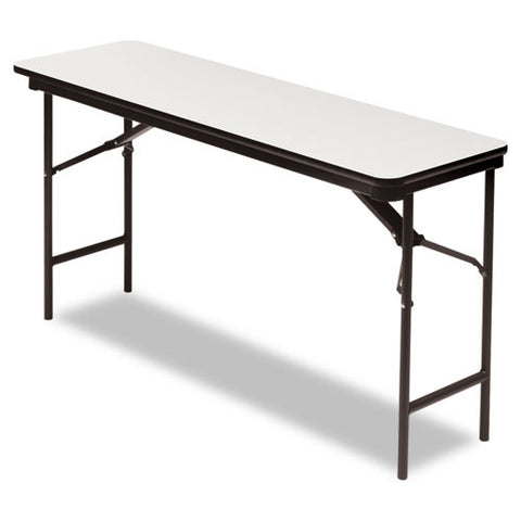 Iceberg Premium Wood Laminate Folding Table ICE55277, Gray (UPC:674785552773)