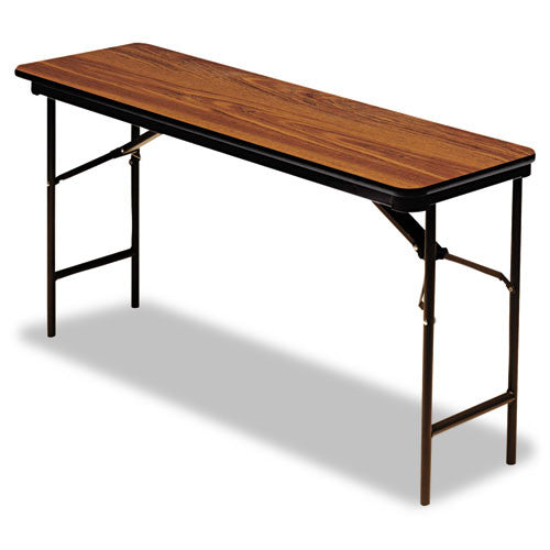 Iceberg Premium Wood Laminate Folding Table ICE55285, Oak (UPC:674785552858)