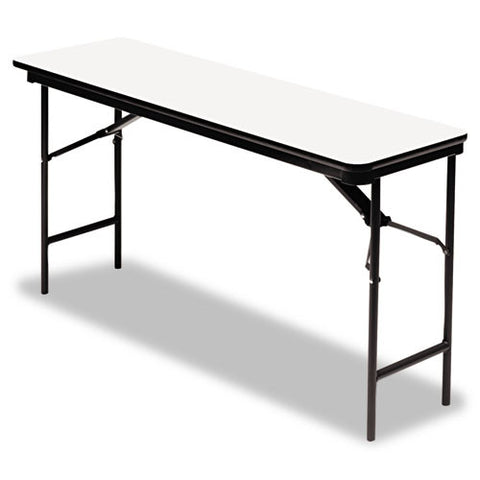 Iceberg Premium Wood Laminate Folding Table ICE55287, Gray (UPC:674785552872)