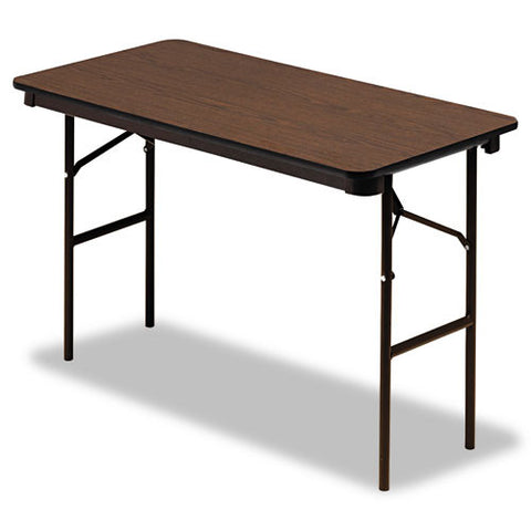 Iceberg 55304 Economy Folding Table ICE55304, Walnut (UPC:674785553046)