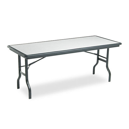 Iceberg IndestrucTable Folding Table ICE65127, Black (UPC:674785651278)