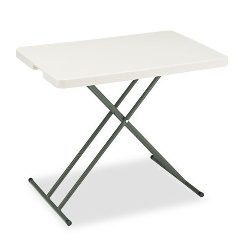 Iceberg IndestrucTable TOO 1200 Series Adjustable Personal Folding Table ICE65490, Silver (UPC:674785654903)