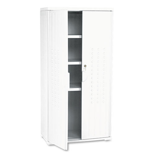 Iceberg Officeworks 3-shelf Storage Cabinet ICE92553, Silver (UPC:674785925539)