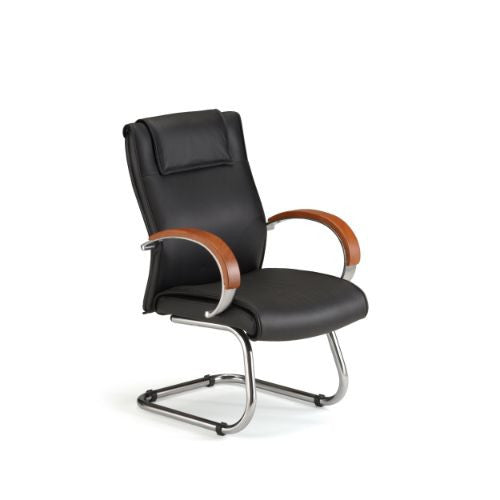 OFM Apex Series Leather Executive Mid-Back Guest Chair ; UPC: 811588010530