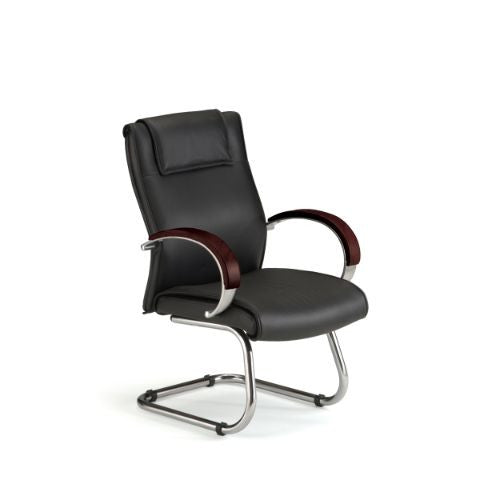 OFM Apex Series Leather Executive Mid-Back Guest Chair ; UPC: 811588010554