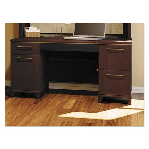 Bush Enterprise 60W Double Pedestal Desk Box 2 of 2 BSH2960MCA203, Cherry (UPC:042976296018) ; Image 2