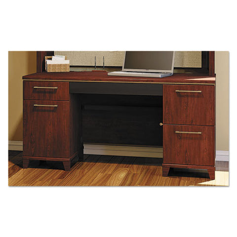 Bush Enterprise 60W Double Pedestal Desk Box 2 of 2 BSH2960CSA203, Cherry (UPC:042976296032) ; Image 2