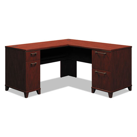 Bush Enterprise 60W x 60D L-Desk Box 2 of 2 BSH2930CSA203, Cherry (UPC:042976293031) ; Image 1