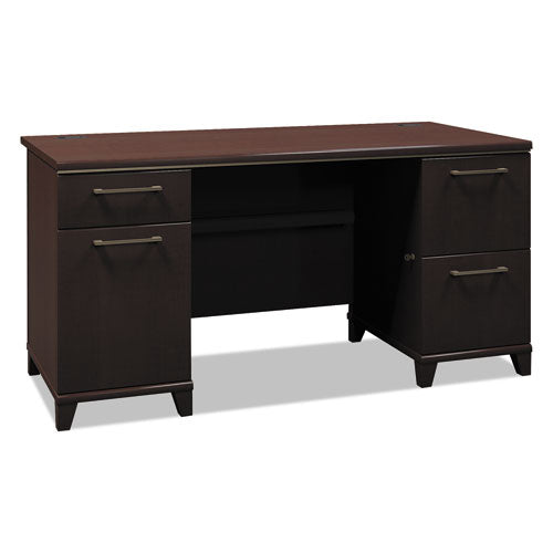 Bush Enterprise 60W Double Pedestal Desk Box 2 of 2 BSH2960MCA203, Cherry (UPC:042976296018) ; Image 1