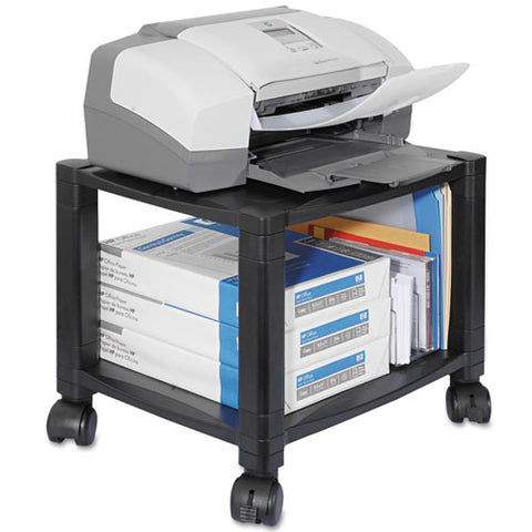 Kantek PS510 Under Desk 2-Shelf Moblie Printer/Fax Stand KTKPS510, Black (UPC:750333635102)