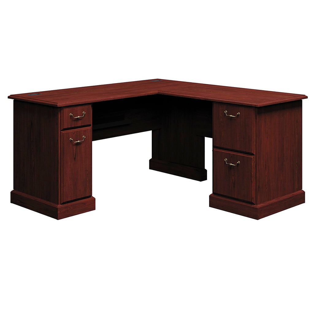 Bush Business Furniture Syndicate Collection 60W x 60D L-Desk in Harvest Cherry ; UPC: 042976609597 ; Image 1