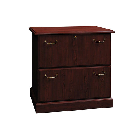 Bush Business Furniture Syndicate Collection 30W 2Dwr Lateral File in Harvest Cherry ; UPC: 042976518127 ; Image 1
