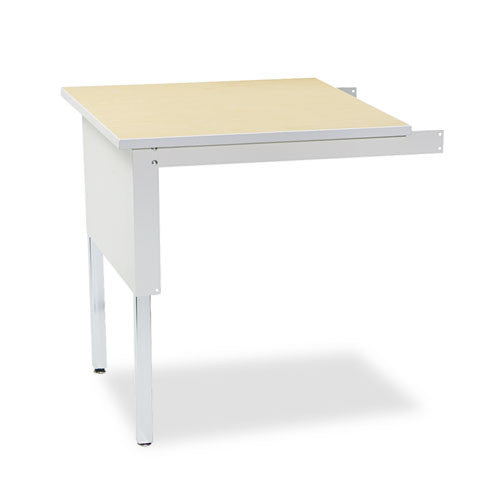 Mayline Mailflow-To-Go Mailroom Corner Table MLNTB30PG, Gray (UPC:760771419165)