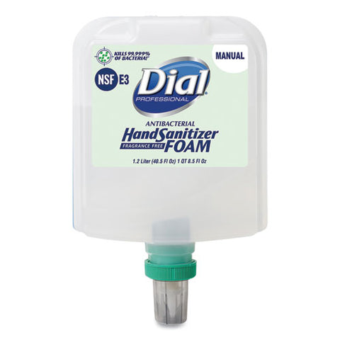 Dial Professional Dial 1700 Manual Refill Antibacterial Foaming Hand Sanitizer, Fragrance-Free, 1.2 L, 3/Carton  DIA19714