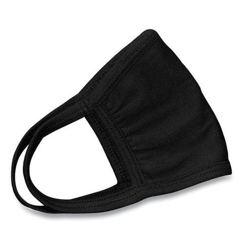 GN1 Cotton Face Mask with Antimicrobial Finish, Black, 10/Pack GN124446905