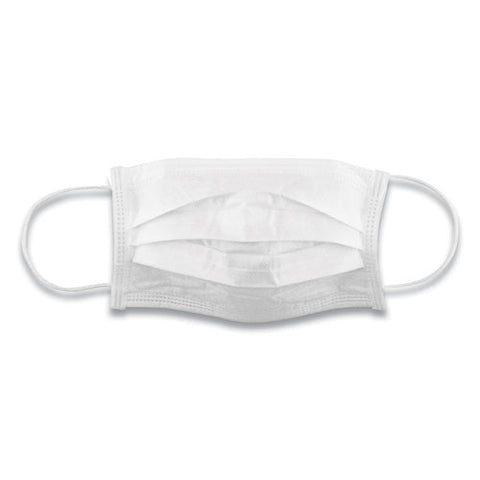 GN1 Cotton Face Mask with Antimicrobial Finish, White, 10/Pack GN124444923PK
