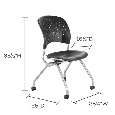 Safco Products Reve™ Nesting Chair 6808BLP Image 10
