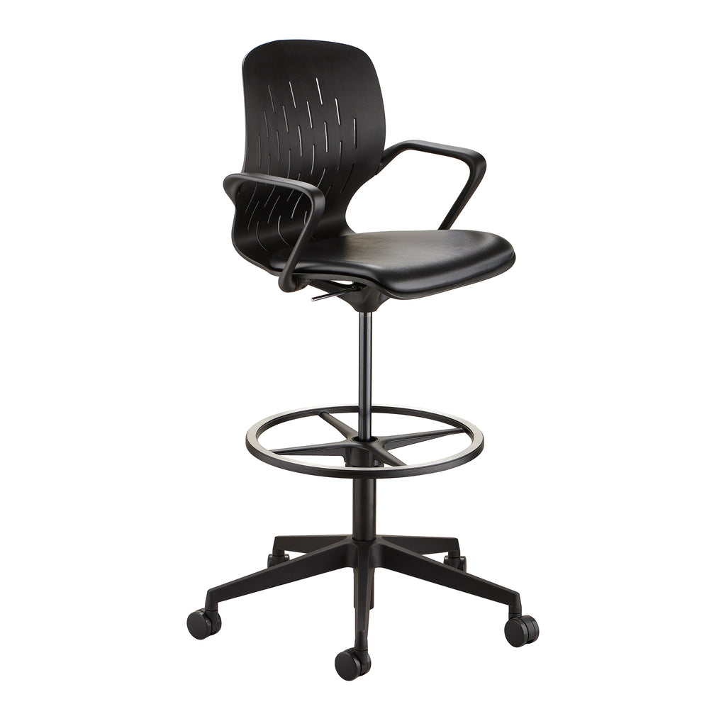 Safco Products Shell™ Extended-Height Chair 7014BL Image 1