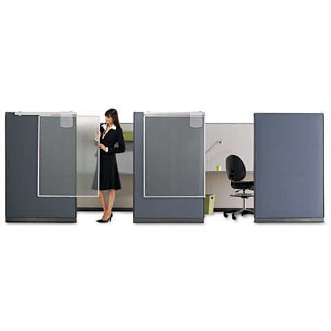 ACCO Lightweight Workstation Privacy Screen QRTWPS1000, Silver (UPC:034138039014)