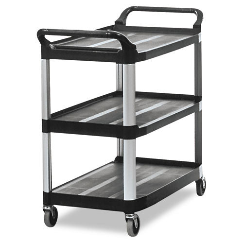 Rubbermaid Commercial Open Sided Utility Cart RCP409100BLA,  (UPC:086876148947)