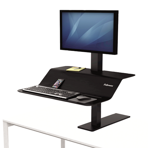 Fellowes Lotus VE Sit-Stand Workstation - Single ; UPC 043859728022