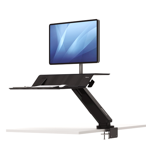 Fellowes Lotus RT Sit-Stand Workstation Black Single ; UPC 043859735822