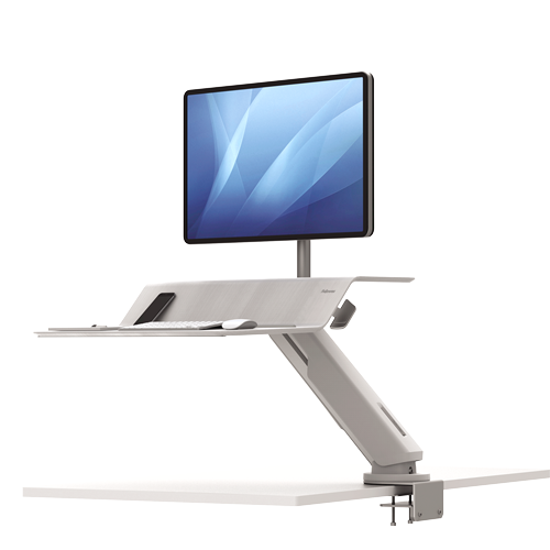 Fellowes Lotus RT Sit-Stand Workstation White Single ; UPC 043859737031