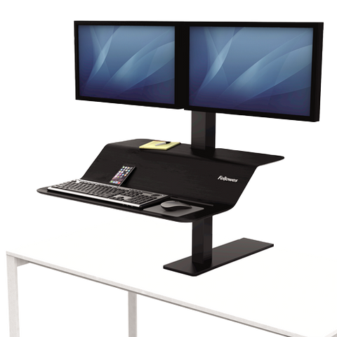 Fellowes Lotus™ VE Sit-Stand Workstation - Dual ; UPC 043859729470
