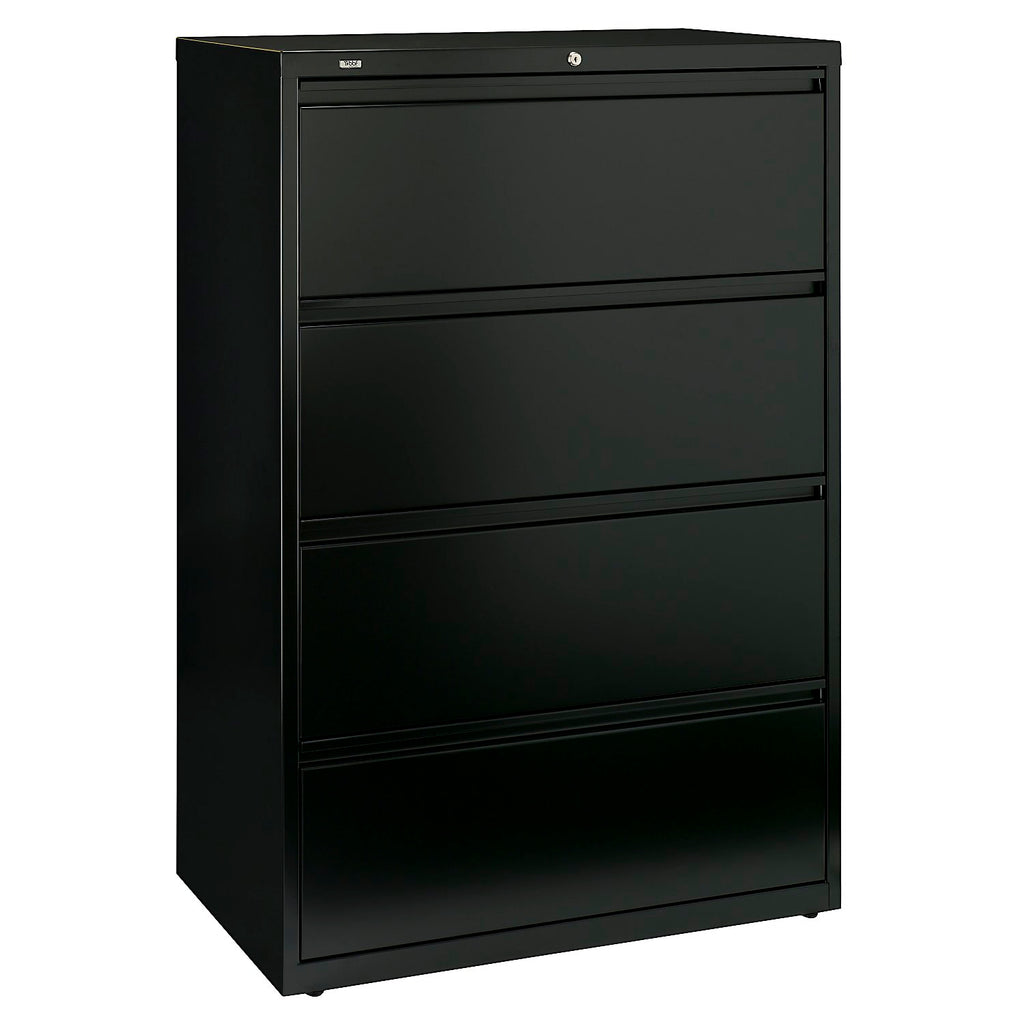 Bush Business Furniture Synchronize 1000 Collection 36W 4-Drawer Lateral Metal File in Satin Black ; UPC: 042976502751 ; Image 1