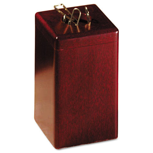 Sanford Wood Tones Paper Clip Holder ROL23370, Mahogany (UPC:030402233706)