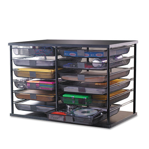 Rubbermaid Desktop Organizer RUB1735746, Black (UPC:030402864528)