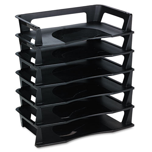 Rubbermaid Regeneration Letter Tray RUB86028, Black (UPC:030402860285)