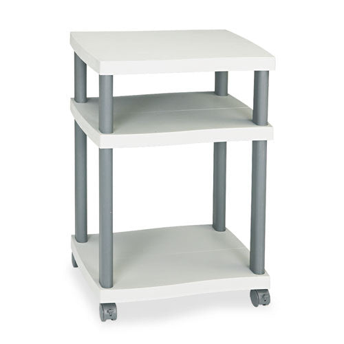 Safco Wave Deskside Printer Stand SAF1860GR, Gray (UPC:073555186031)