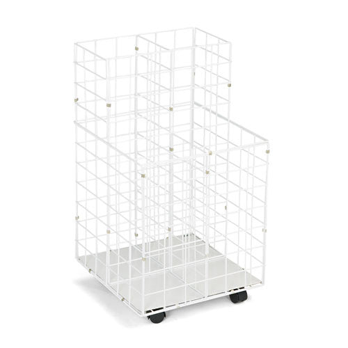 Safco 4 Compartments Wire Storage File SAF3084, White (UPC:073555308402)